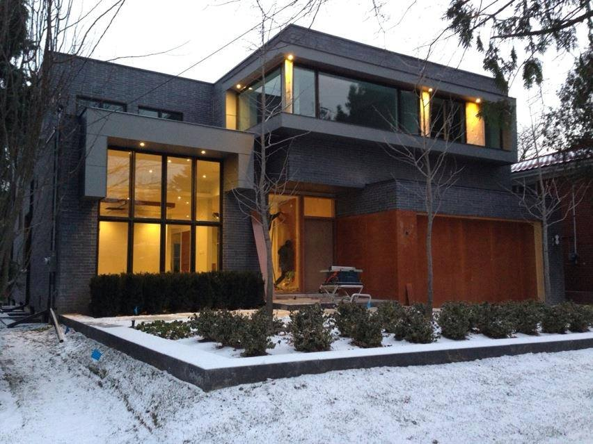 This is a new custom built modern architecture home in toronto Modern custom home builders